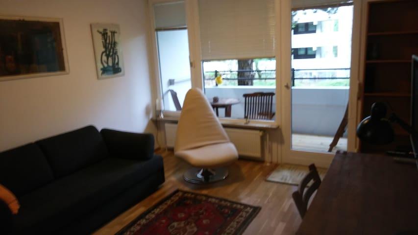 Möblierte 1-Zimmerwohnung, zentral, ruhig, sonnig - Munich - Leilighet