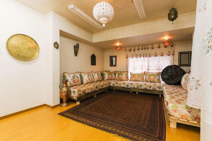 Moroccan Lounge @ Heart of Tenjin - Chūō-ku, Fukuoka-shi - Lägenhet