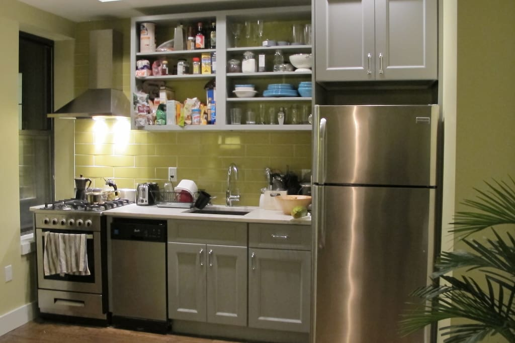 Kitchen with dishwasher and brand new appliances