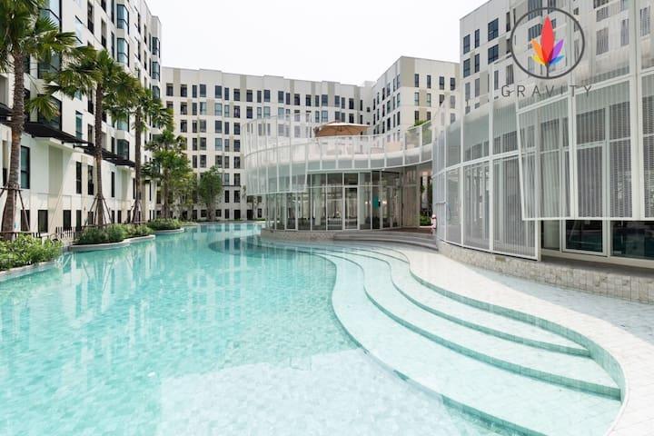 BTS 600米泳池公寓 近三头神像 /暹罗 娜娜