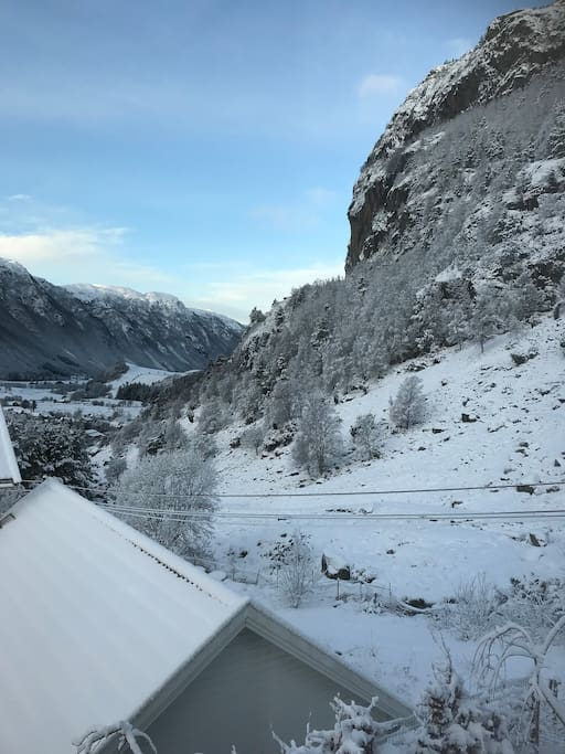 View from terrace winter
