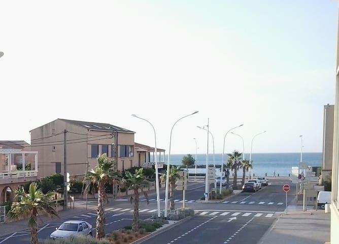 studio mezzanine vue mer,valras plage - Valras-Plage