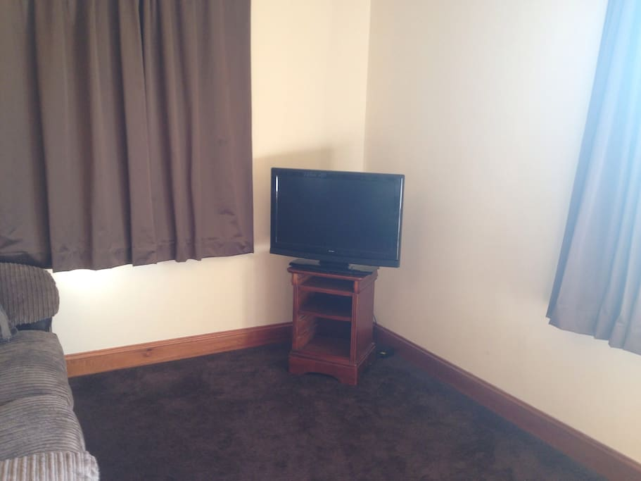 TV in the bedroom/living area