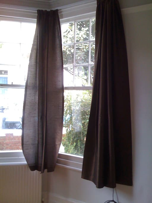 Curtains added