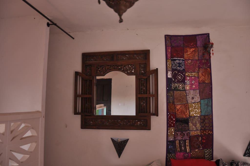 el dormitorio arriba