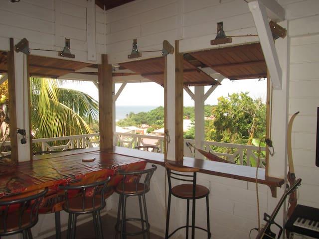 Belle vue mer, jardin, proche plages cocotiers - La Trinité - Dům
