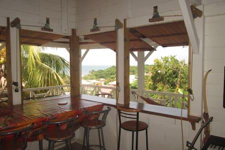 Belle vue mer, jardin, proche plages cocotiers - La Trinité