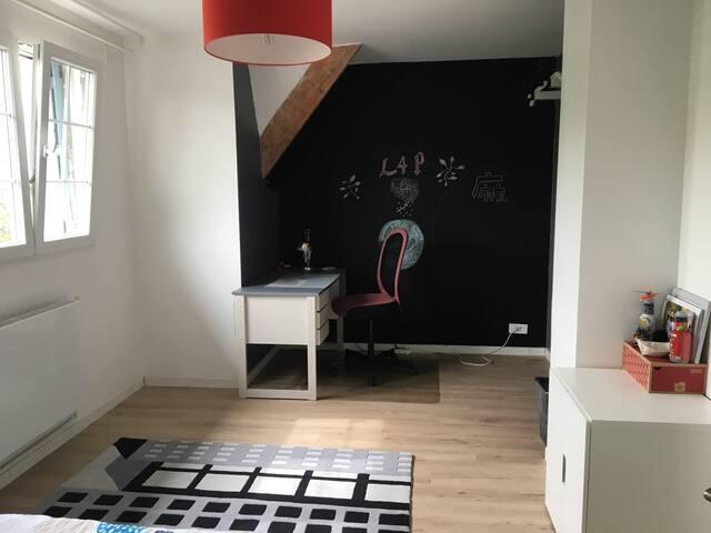 Chambre moderne de 19 m2 dans environnement calme