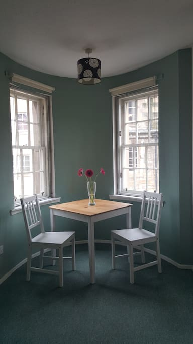Turreted dining area