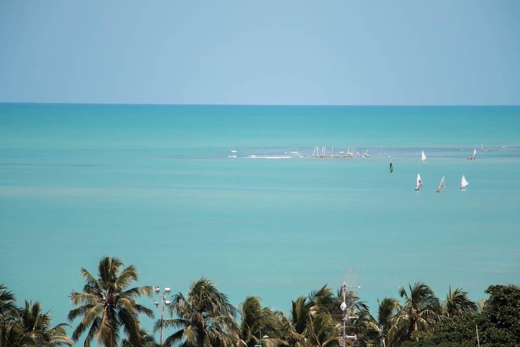 Vista da cobertura,piscina natural da praia de Pajuçara.