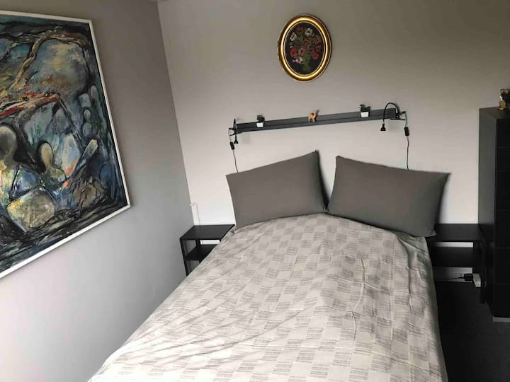 1 værelse med dobbeltseng udlejes