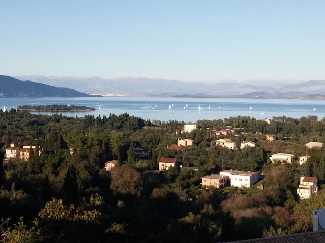 Panoramic View of Corfu Island - Evropouli