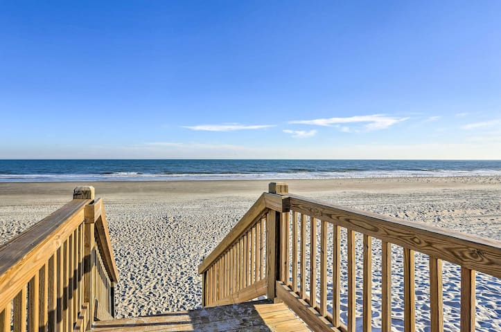 Calling all beach bums! This property is only steps from the ocean.