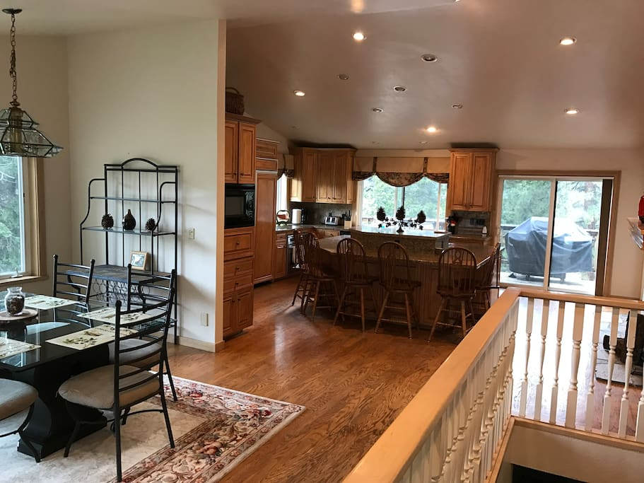 From the entry way looking to the kitchen