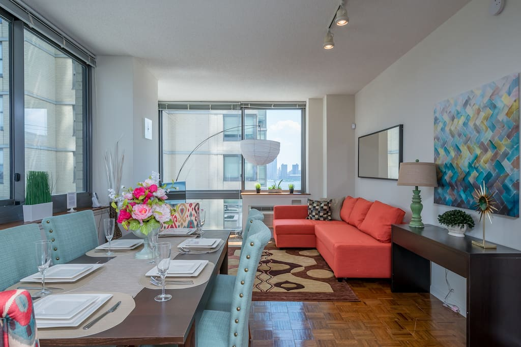 Two Bedroom Luxury Apartment Nyc Views Train Apartments For Rent In Jersey City New Jersey
