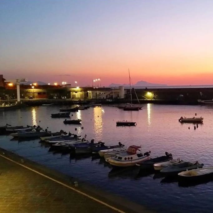 Lungomare di Portici / Seafront of Portici. (This picture is from the coast of Portici, it isn't from my home). You can arrive here by 10minuts walking :)