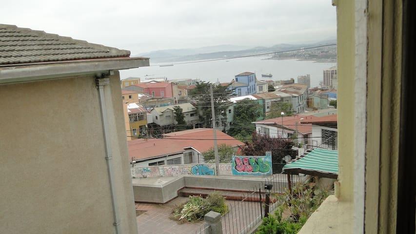 Habitacion para 2 o 3 con vista al mar