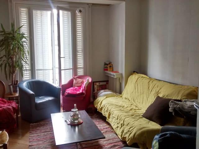 Chambre dans appartement 90m2 proche RER Vincennes - Vincennes - Departamento