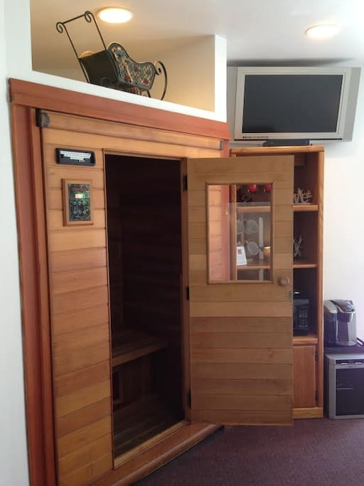 Infrared sauna to give your muscles a treat.