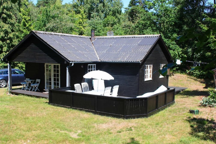 Cozy Holiday Home in Nexø with Roofed Terrace