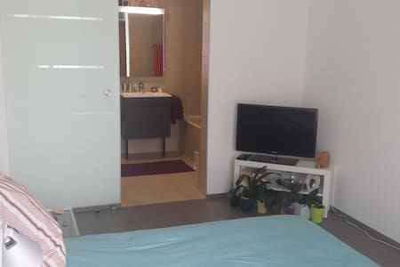 Lovely room in beautiful apartment with terrace - Gland - Apartment
