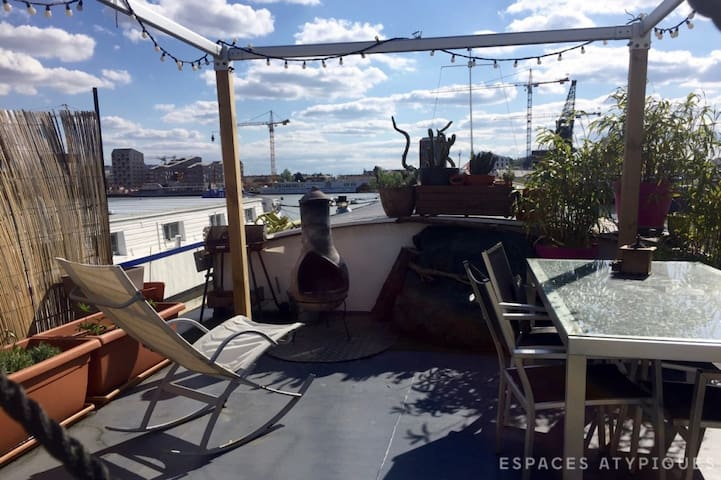 Atypical room / Houseboat Bordeaux - Burdeos - Barco