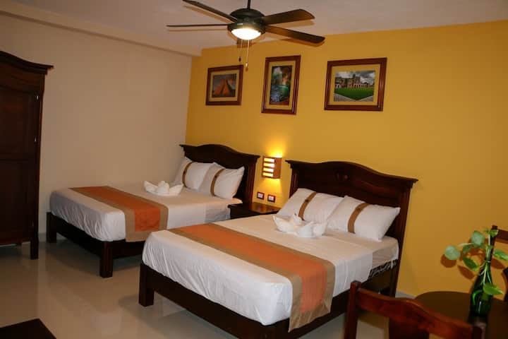 Two Double Bed Colonial Style Room