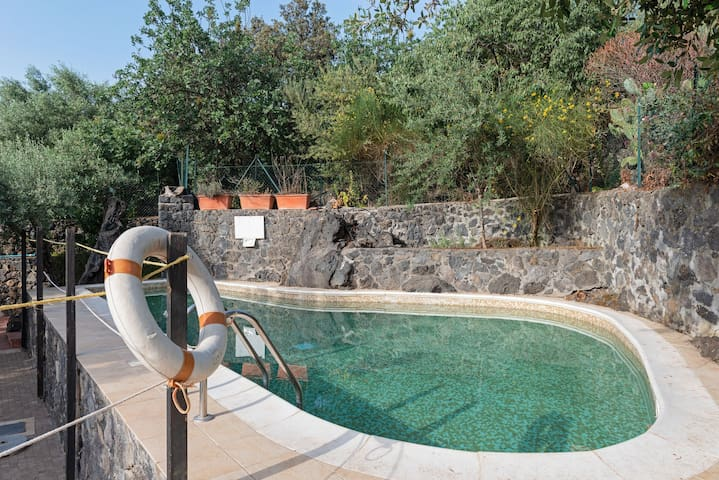Suite surrounded by nature with great views & shared pool, garden, BBQ!