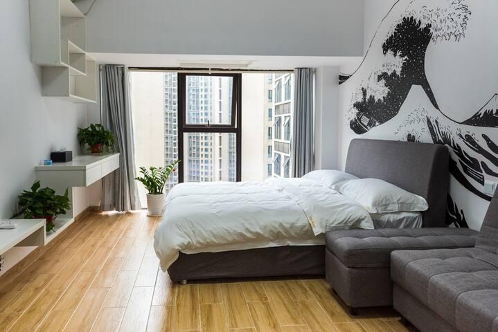浮世绘之海浪公寓房 - Changsha Shi - Apartemen