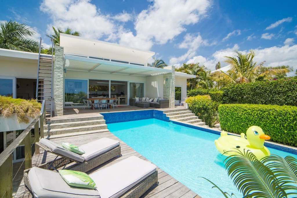 beautiful villa with a large pool