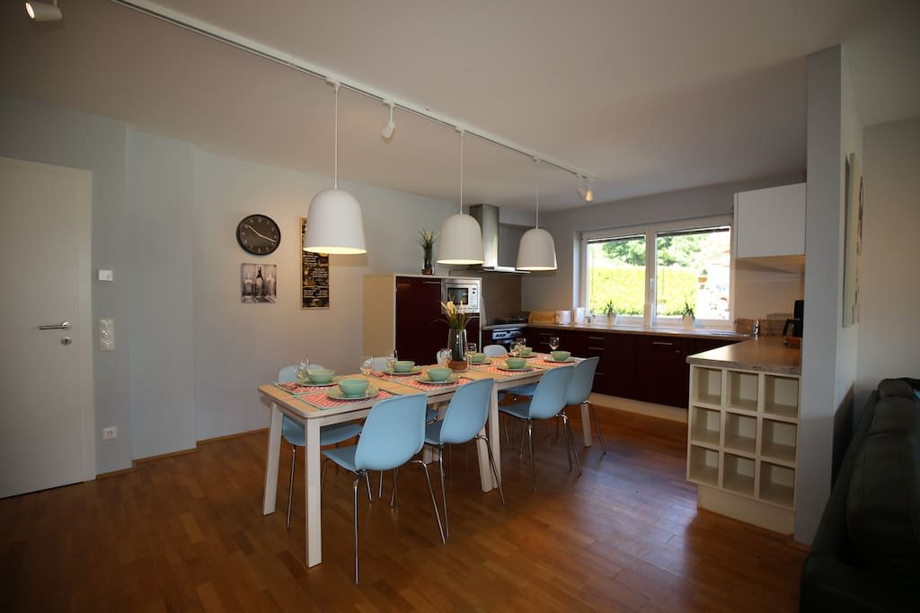 Dinning area with kitchen