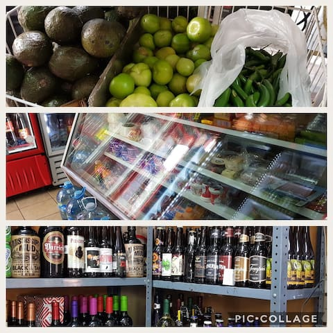 Beer, mezcal, or vegetables, just in the corner