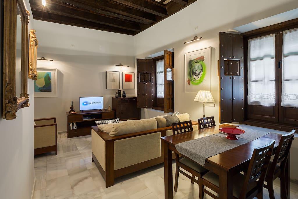Valladares 1 dormitorio en triana parking gratis for Alquiler de casas en triana sevilla