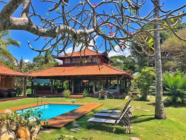 Cabana Bali Vila -EM FRENTE AO MAR, 16+ pessoas