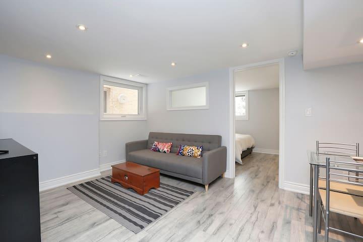 New, bright, centrally located Toronto apartment