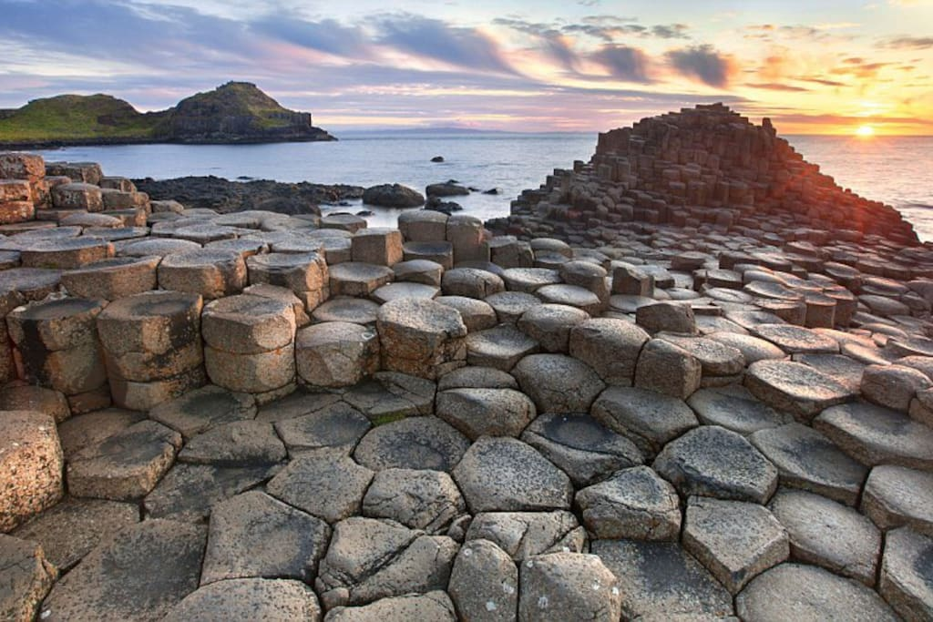 The famous giants causeway world heritage site. Distance from Tullaghbrook is only 22 miles