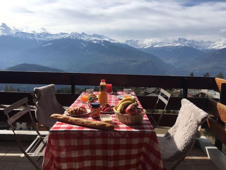Super location, fantastic view - Anzère Swiss Alps
