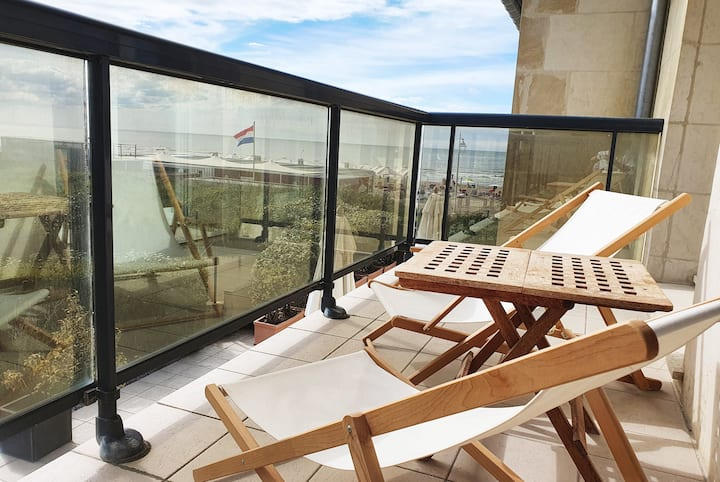 🌸 L'Ammonite | Grand Balcon avec Mer - Parking 40m² - 4pers.