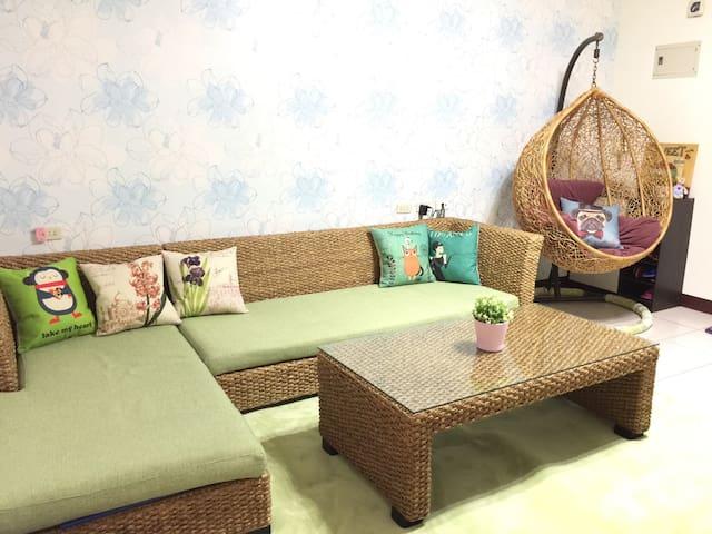 台北近公館商圈、樂華夜市️景安MRT5mins!2-5人溫馨舒適空間 - 中和區 - Apartment