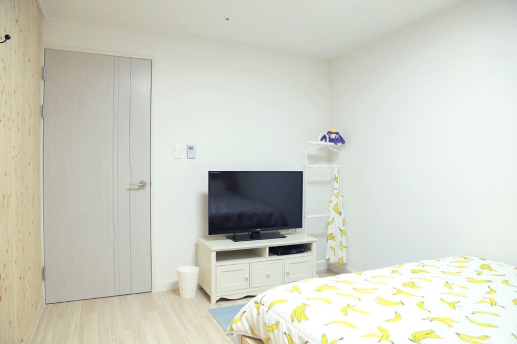 TV, wifi and small hanger in guest room