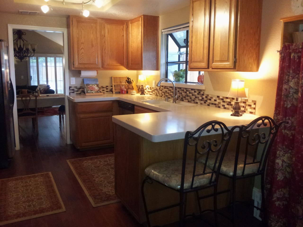 Well equipped kitchen with plenty of space to cook.
