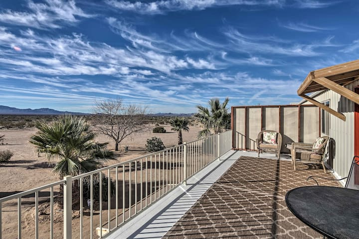 NEW! Yucca Upstairs Condo w/2 Acre &Mountain Views