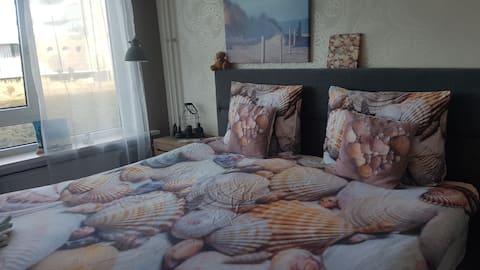 Zimmer mit meersicht Egmond aan zee+opklapbed