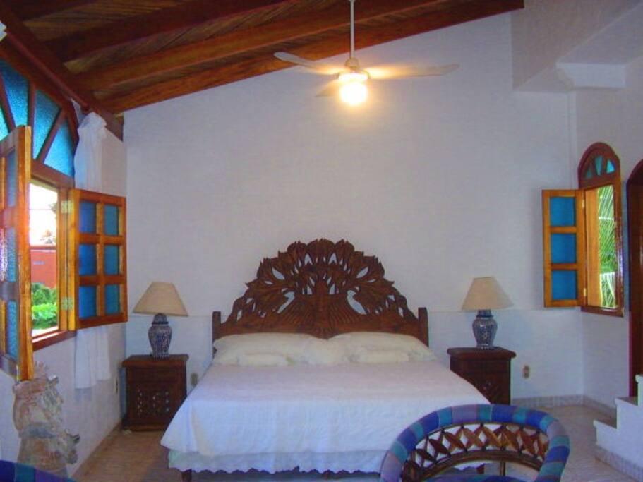 La villa tipo loft se ubica en un tercer piso...