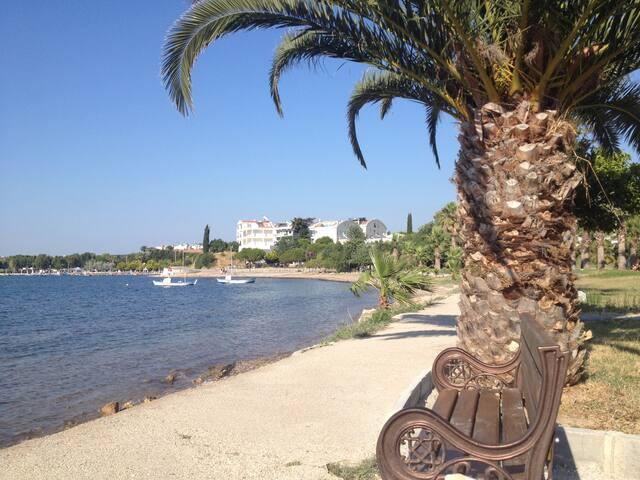 amazing sea front property Altinkum - Mavişehir Mahallesi - Huoneisto