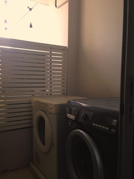 เครื่องซักผ้า และเครื่องอบผ้า