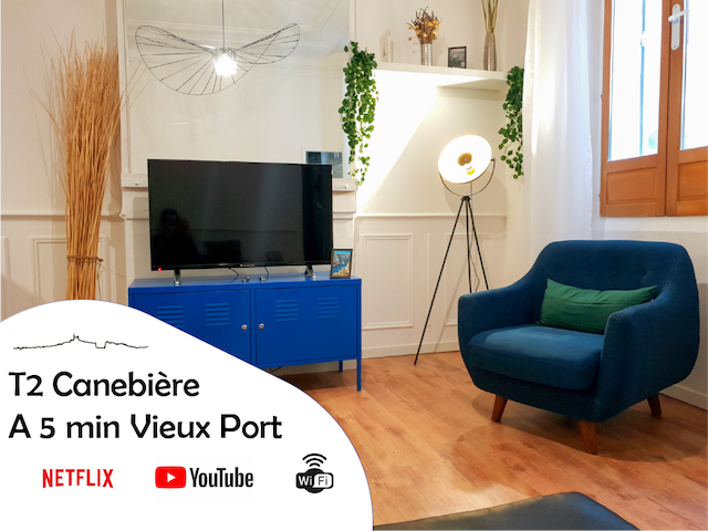 T2 à 5 min du Vieux Port ⛴ / Netflix and Chill