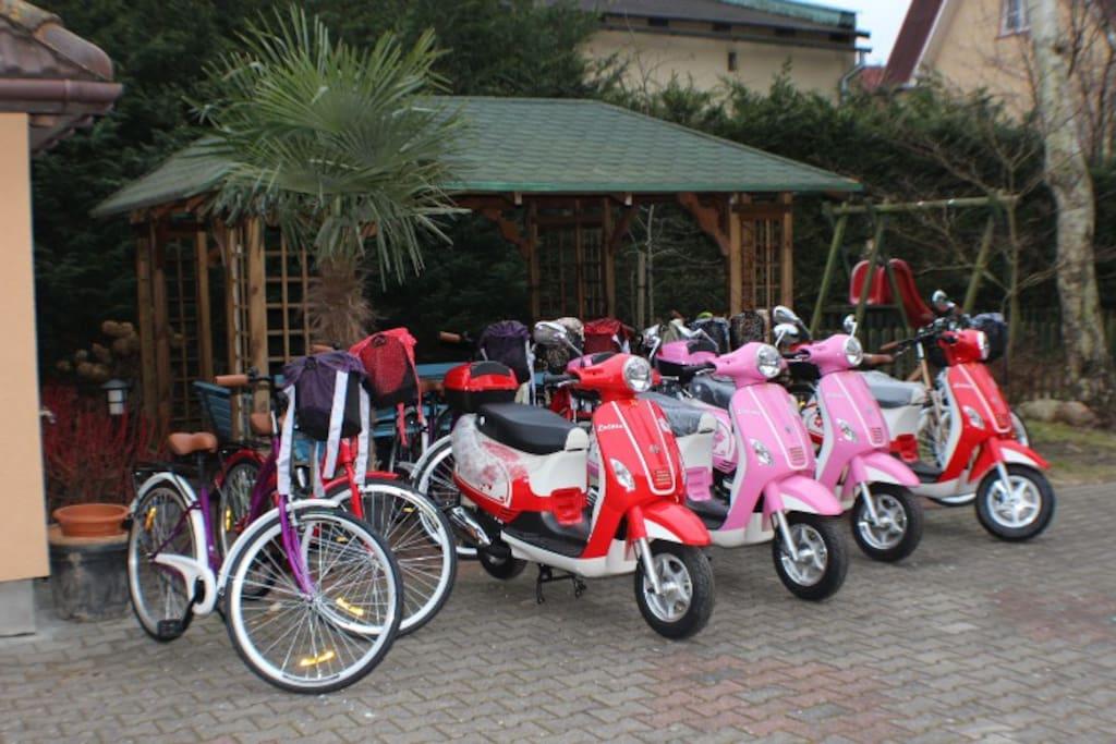 Fahrrad und Rollervermietung