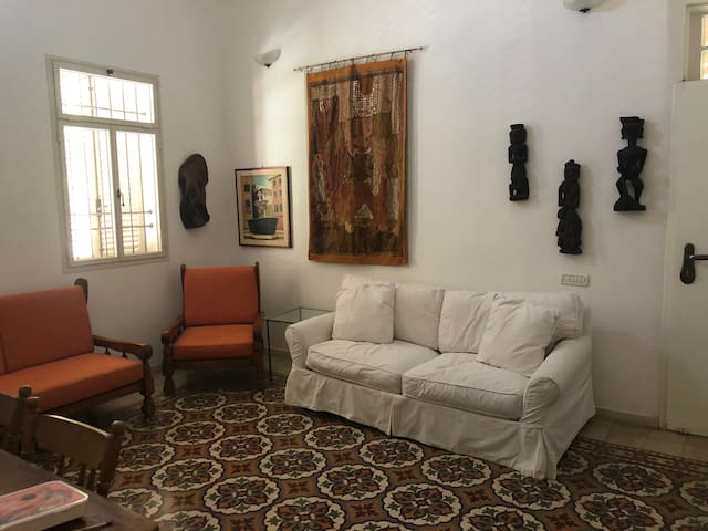 Living room — one of several possible furniture arrangements