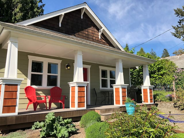 Modern Craftsman, Sunny Covered Porch + EV Charger